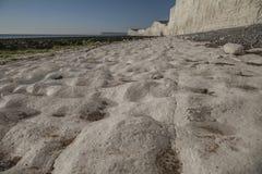 Falaises blanches - sept soeurs, East Sussex, Angleterre, R-U image libre de droits