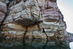Falaises dévoniennes souillées, gorge de Geikie, croisement de Fitzroy Images stock