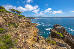Falaises d'Éden, Nouvelle-Galles du Sud, Australie Photo stock