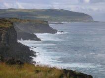 Falaises d'île de Pâques Photographie stock libre de droits