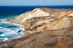 Falaises d'Aquinnah sur le Martha's Vineyard Photographie stock libre de droits
