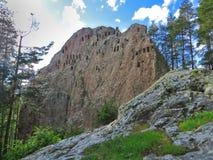 Falaises d'Eagles, sanctuaire de Thracian, montagnes de Rhodope, Bulgarie Image libre de droits