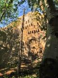 Falaises d'Eagles, sanctuaire de Thracian, montagnes de Rhodope, Bulgarie Photo stock