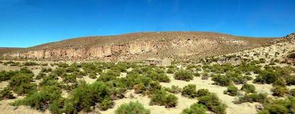 Falaises dans Altiplano La Bolivie, Amérique du Sud photos libres de droits