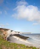 Falaises de blanc de Douvres Grande-Bretagne Photos stock