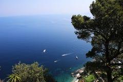 Falaises de Capri, île de Capri, Italie Photographie stock