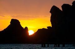 Falaises de coucher du soleil Photos libres de droits