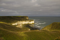 Falaises de craie chez Flamborough Photographie stock libre de droits
