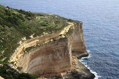 Falaises de Dingli, Malte Photographie stock libre de droits