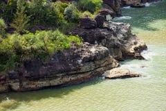 Falaises de grès au parc national Bornéo de Bako photos libres de droits