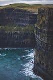 Falaises de l'Irlande de Moehr image libre de droits