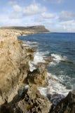 Falaises de la Chypre Photographie stock