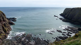 Falaises de la Mer du Nord images libres de droits