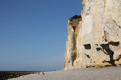 Falaises de la Normandie Photographie stock