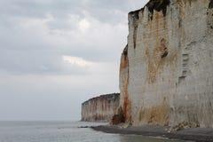 Falaises de la Normandie Images libres de droits
