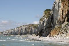 Falaises de la Normandie Images stock