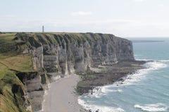 Falaises de la Normandie Image libre de droits