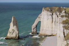 Falaises de la Normandie Photographie stock libre de droits