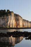 Falaises de la Normandie Photos libres de droits