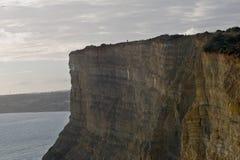 Falaises de Lagos au Portugal Photographie stock