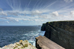 Falaises de mer, comté Clare, Irlande Image libre de droits