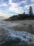 Falaises de plage photo stock