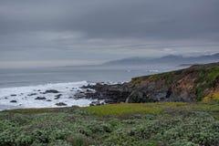 Falaises de plage Photographie stock