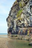Falaises de plage de Ballybunion et piscines de plage Photos stock