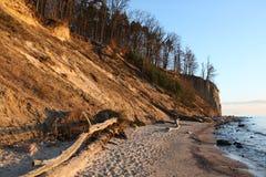 Falaises de sable à Gdynia (Pologne) Photographie stock libre de droits