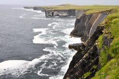Falaises de tête de boucle, Irlande Photos stock
