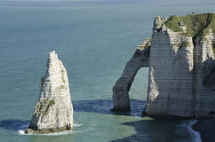 Falaises en Normandie Photo libre de droits