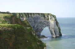 Falaises en Normandie Image stock
