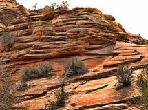 Falaises en pierre de sable Image libre de droits