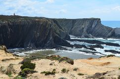 Falaises et dunes chez Costa Vicentina Natural Park, Portugal du sud-ouest Photo stock