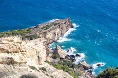 Falaises et mer Nature sauvage Photographie stock libre de droits