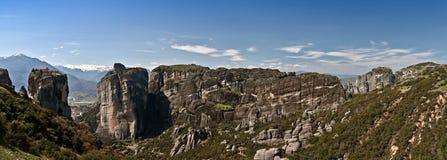Falaises et monastères de Meteora Photos libres de droits