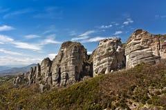 Falaises et monastères de Meteora Photographie stock