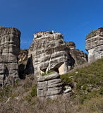 Falaises et monastères de Meteora Photo libre de droits