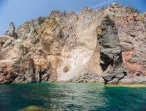 Falaises et roches de Lipari, Italie Image libre de droits