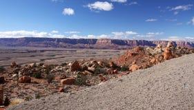 Falaises Gorge-Vermeilles région sauvage, Utah, Etats-Unis de Paria Image libre de droits