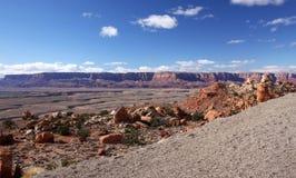 Falaises Gorge-Vermeilles région sauvage, Utah, Etats-Unis de Paria Photos stock