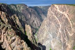 Falaises grandes de grand canyon image stock
