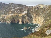 Falaises le Donegal de Sliabh Liag Photographie stock libre de droits