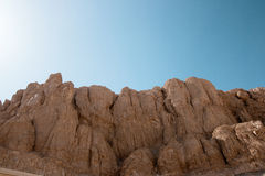 Falaises majestueuses dans le désert Images libres de droits