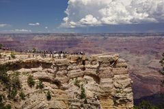 Falaises naturelles de canyon grand photo stock