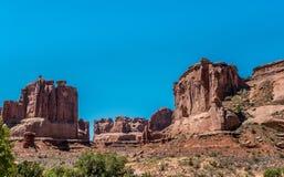Falaises Park Avenue Arque le parc national, Utah, Etats-Unis Images libres de droits