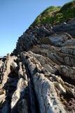 Falaises remarquables sur la côte atlantique française images stock