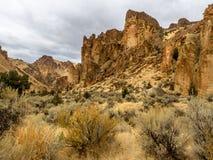 Falaises rocheuses de canyon Photo libre de droits