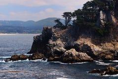 Falaises rocheuses de pinte Lobos Image stock