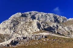 Falaises sur l'île de Kalymnos Image stock